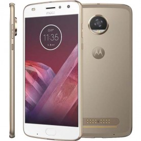"""Smartphone Moto Z2 Play - Ouro - 64GB - RAM 4GB - Octa Core - 4G - 12MP - Tela 5.5"""" - Android 7.1"""