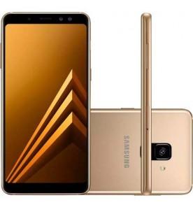 "Smartphone Samsung Galaxy A8 - Dourado - 64GB - RAM 4GB - Octa Core - 4G - 16MP - Tela 5.6"" - Android 7"