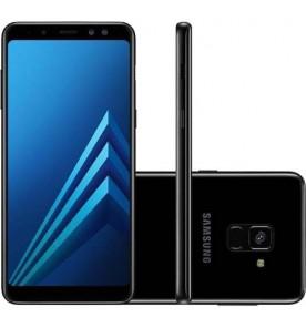 "Smartphone Samsung Galaxy A8 - Preto - 64GB - RAM 4GB - Octa Core - 4G - 16MP - Tela 5.6"" - Android 7"