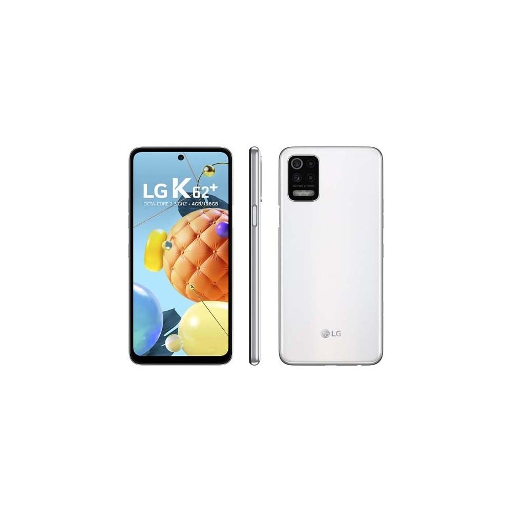 "Smartphone LG K62 Plus - Branco - 128GB - RAM 4GB - Octa Core - 4G - Câmera Quádrupla - Tela 6.6"" - Android 10"
