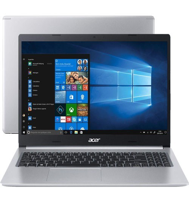 """Notebook Acer Aspire 5 A515-54-587L - Prata - Intel Core i5-10210U - RAM 8GB - SSD 256GB - Tela 15.6"""" - Windows 10"""