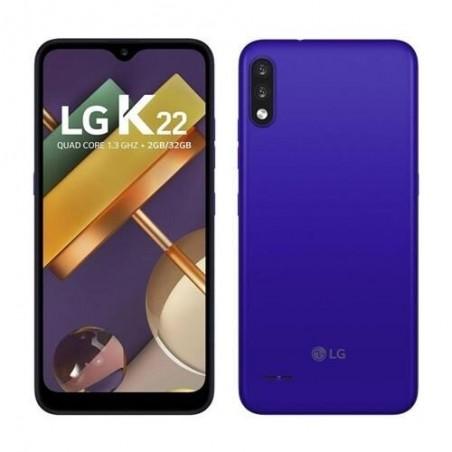 """Smartphone LG K22 - Azul - 32GB - RAM 2GB - Quad Core - 4G - Câmera Dupla - Tela 6.2"""" - Android 10"""