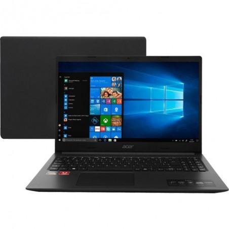 "Notebook Acer Aspire 3 A315-23G-R759 - Preto - Ryzen 7-3700U - Radeon 625 - RAM 8GB - SSD 256GB - Tela 15.6"" - Windows 10"