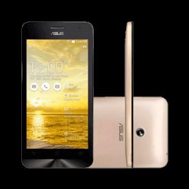 """Smartphone ZenFone 5 ASUS Dourado A501CG-1G457BRA - 16GB - Intel 1.6 GHz - Dual Chip - Câmera 8MP - Tela 5"""" - Android 4.3"""