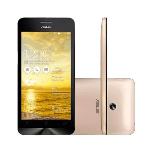 "Smartphone ZenFone 6 Asus A601CG-1G067BR Dourado - 16GB - Dual SIM - Intel Atom Z2560 1.6 GHz - RAM 2GB - Tela 6"" - Android 4.3"