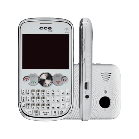 Celular CCE Mobi QW30 Branco - Dual Chip - TV Analógica - MP3 Player - 1.3MP - Rádio FM