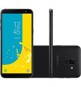 "Smartphone Galaxy J6 - Preto - 32GB - RAM 2GB - Octa Core - 4G - 13MP - Tela 5.6"" - Android 10"