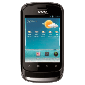 "Smartphone CCE Mobi SM55 - Dual Chip - touchscreen - 3G - Wi-Fi - Tela de 3.2"" - 2MP - Android 2.3 - Preto"