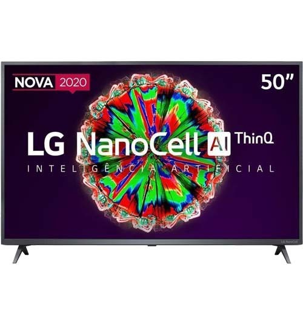 "Smart TV LG NanoCell 50"" 50NANO79SND - Ultra HD 4K - HDR - HDMI - USB - Wi-Fi - ThinQ AI - Conversor Digital"