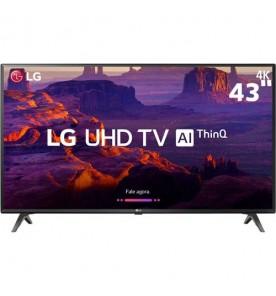 "Smart TV LED 43"" LG 43UK6310PSE - Ultra HD 4K - HDR Ativo - HDMI - USB - Wi-Fi - ThinQ AI - Conversor Digital"