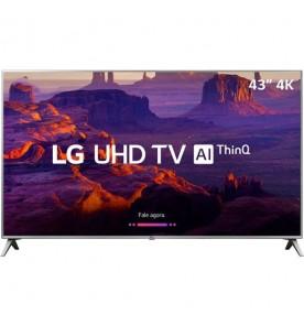 """Smart TV LG LED 43"""" 43UK6510PSF - Ultra HD 4K - HDMI - USB - Wi-Fi - ThinQ Ai - Conversor Digital"""