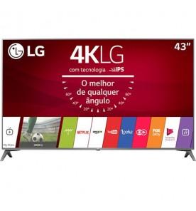 """Smart TV LED LG 43"""" 43UJ6565 - Ultra HD 4K - HDR - HDMI - USB - Wi-Fi - Conversor Digital"""