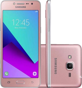 "Smartphone Samsung Galaxy J2 Prime - Rosa - 8GB - RAM 1 GB - 4G - 8MP - Tela 5"" - Android 6"