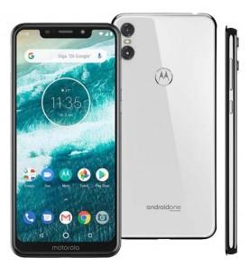 "Smartphone Motorola Moto One - Branco - 64GB - RAM 4GB - Octa Core - 4G - Câmera Dupla - Tela 5.9"" - Android 8.1"