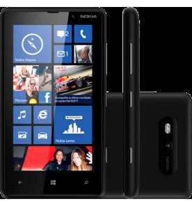 "Smartphone Nokia Lumia 820 Preto - 3G - 8GB - 8MP - Tela 4.3"" - Windows Phone 8"