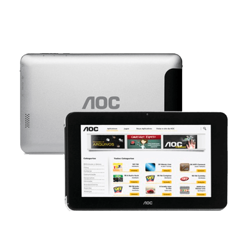 """Tablet AOC MW0711S - 8GB - Wi-Fi - Touchscreen - Tela 7"""" - Android 4.0"""