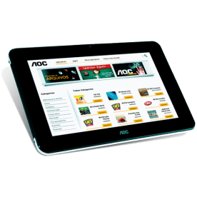 """Tablet AOC BREEZE MW0711BR - 8GB - Wi-Fi - Touchscreen - Tela 7"""" - Android 4.0"""