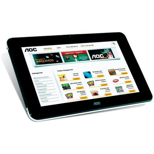 "Tablet AOC BREEZE MW0711BR - 8GB - Wi-Fi - Touchscreen - Tela 7"" - Android 4.0"