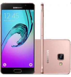 "Smartphone Samsung Galaxy A7 2016 - Rosa - Dual-Chip - 16GB - 13MP - 4G - Tela 5.5"" - Android 5.1"