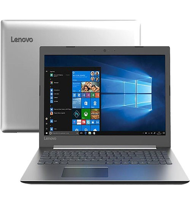 "Notebook Lenovo Ideapad 330-81FE0005BR - Prata - Intel Core i3-7020U - RAM 4GB - HD 1TB - Tela 15.6"" - Windows 10"
