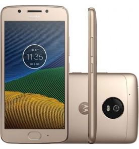 """Smartphone Motorola Moto G5 XT1672 - 5° Geração - Dourado - Dual-Chip - 32GB - Câmera 13MP - Tela 5"""" - Android 7.0"""