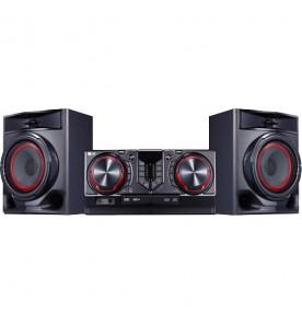 Mini System LG CJ44 XBoom - Preto - Bluetooth - USB - CD - MP3 - 440 Watts