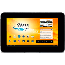 "Tablet AOC Breeze 7Y2241 - Dual Core 1.2GHz - RAM 1GB - 4GB - Câmera 0.3MP"" - Tela 7"" - Android 4.1"