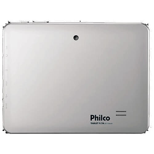 "Tablet Philco 9.7A3G-S111A4.0 Prata - Tela de 9.7"" - ARM Cortex A8 - 8GB - Câmera de 2MP - RAM 1GB - Android 4.0"