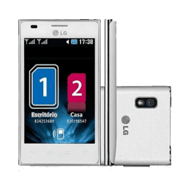 "Smartphone LG E615 Optimus L5 - Dual Chip - 3G - Wi-Fi - 4"" - 5MP - Android 4.0 - Branco"