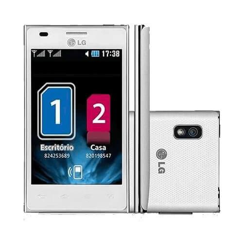 "Smartphone LG E615 Optimus L5 - Dual Chip - 3G - Wi-Fi - 4"" - 5MP - Android 4.0 - Branco"