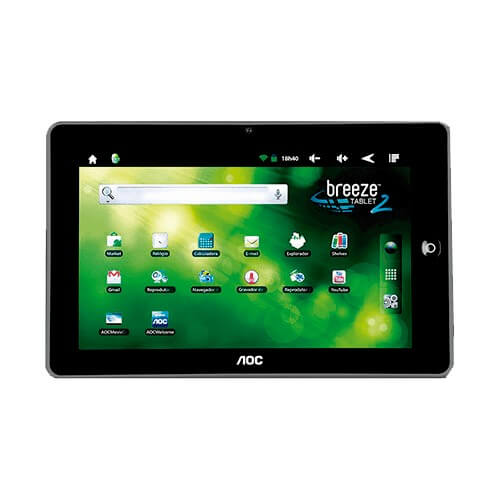 "Tablet Breeze MW0821 BR8 AOC - ARM Cortex A8 - 8GB - Tela 8"" - Android 2.3"
